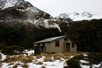 Blue lake hut